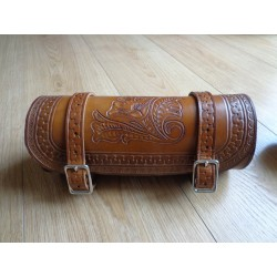 ROLL BAG EN CUIR REPOUSSE